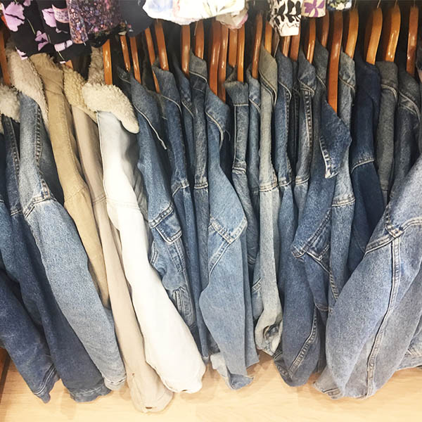 Vintage denim jackets on deck at Miss Brown's